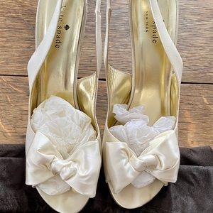 Kate Spade Sarah Ivory heels